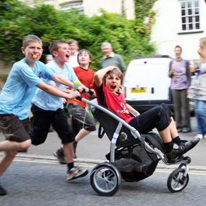 Junior pram race