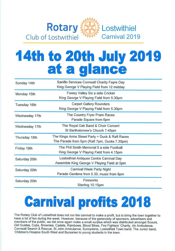 Francois Illas New Tradition: 2019 Lostwithiel Carnival Week : Lostwithiel