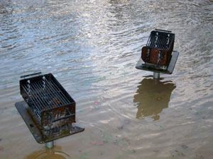 Flooded barbeques