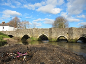 Medieval bridge reopened after flood