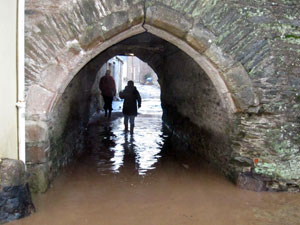 Flooded Duchy Palace archway