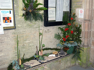 Fossil flower display
