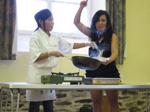Paid Thai cooking demonstration