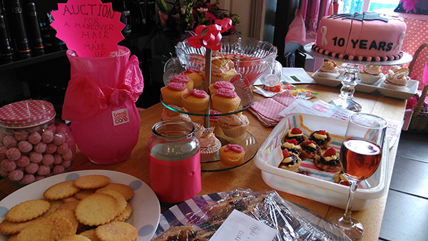 Hair Gallery think pink charity day
