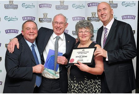 Kings Arms Community pub of the Year 2014