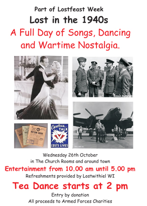 1940s events in Church Room, Lostwithiel