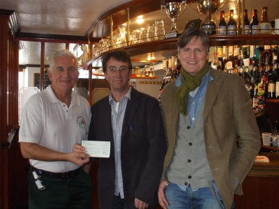 Mike Dobbie and Adrian Barratt donating LostFest cheque to FLEET