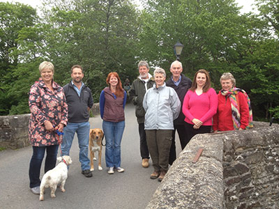 Forum members at the old bridge, Lostwithiel