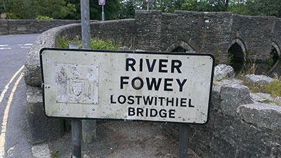 Old bridge sign