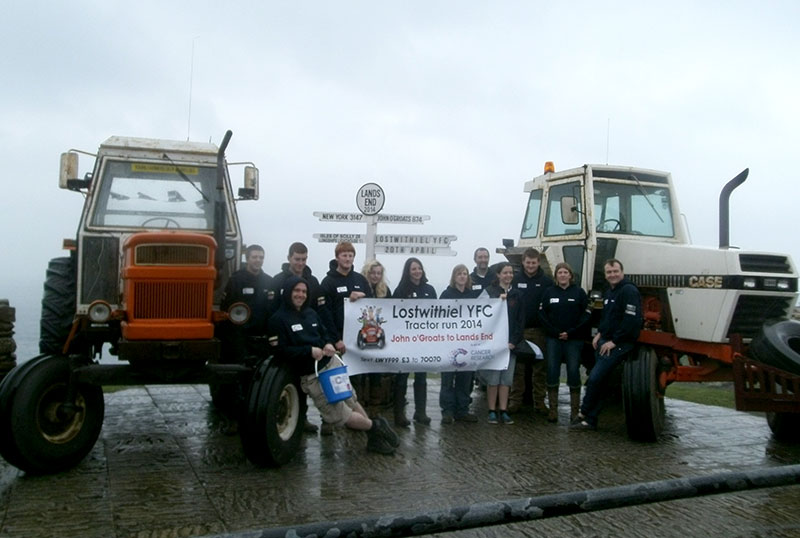 YFC Tractor Run at Land's End