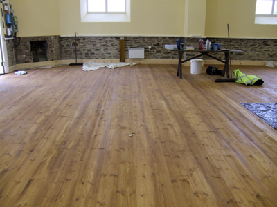 Nearly finished floor of the Church Rooms