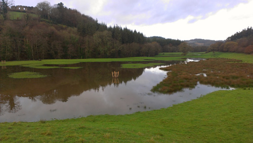 Restormel Farm fields flooded