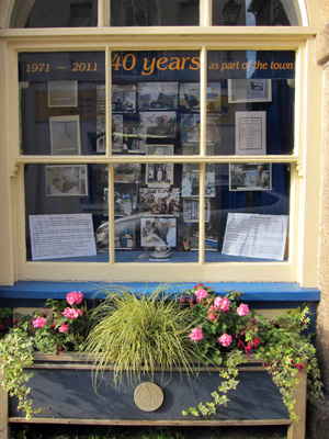 Lostwithiel Museum 40 year window display
