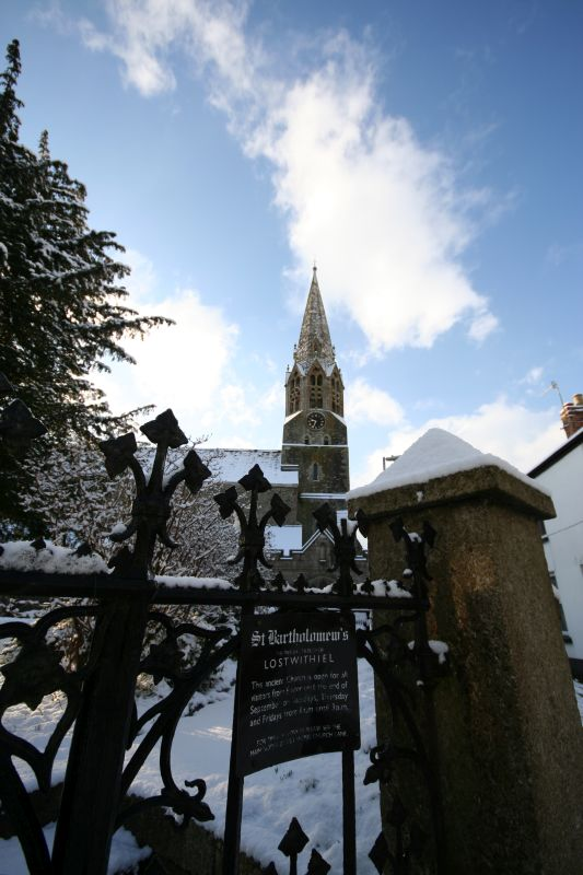 St Barts in snow